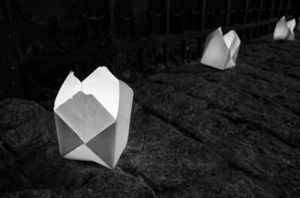 trotuar lumanari origami