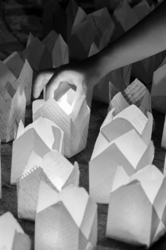mana aprindere lumanari origami