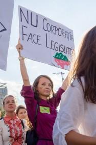 protest rosia montana iasi piata unirii 2013 tanara pancarda