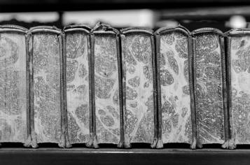 old books on a shelf