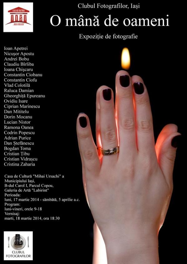 afis expozitie o mana de oameni iasi 2014