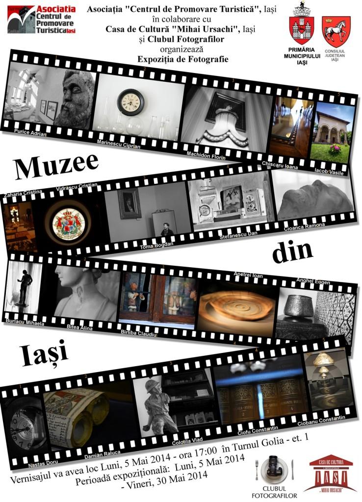 afis expozitie Muzee din iasi 2014