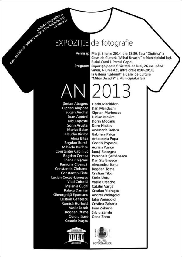 afis expozitie AN2013