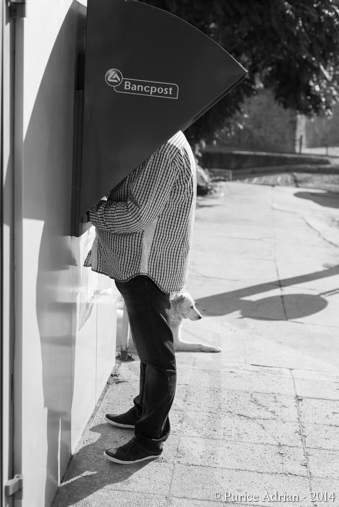 man near a ATM
