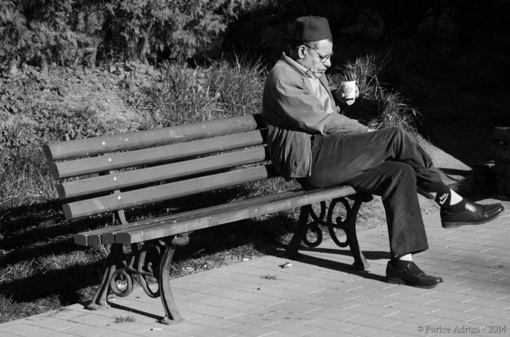 turkish man drinking cofee in the morning