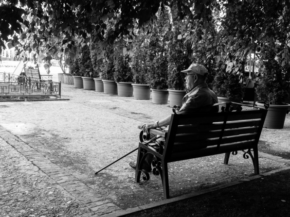 old man on a bench