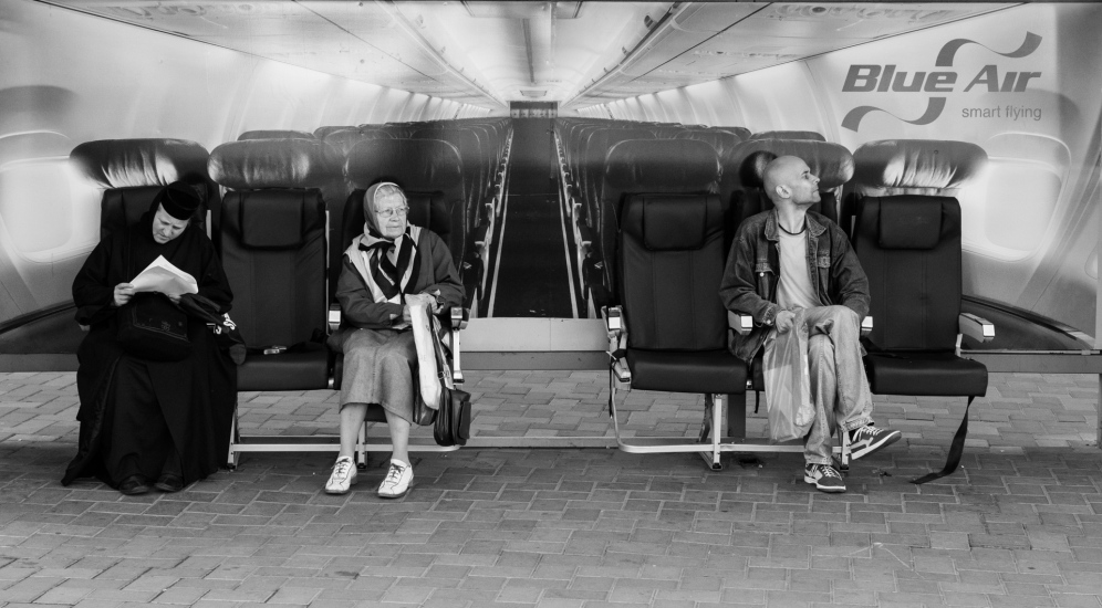 bus station airplane